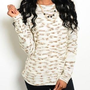 • Ivory Mocha Sweater